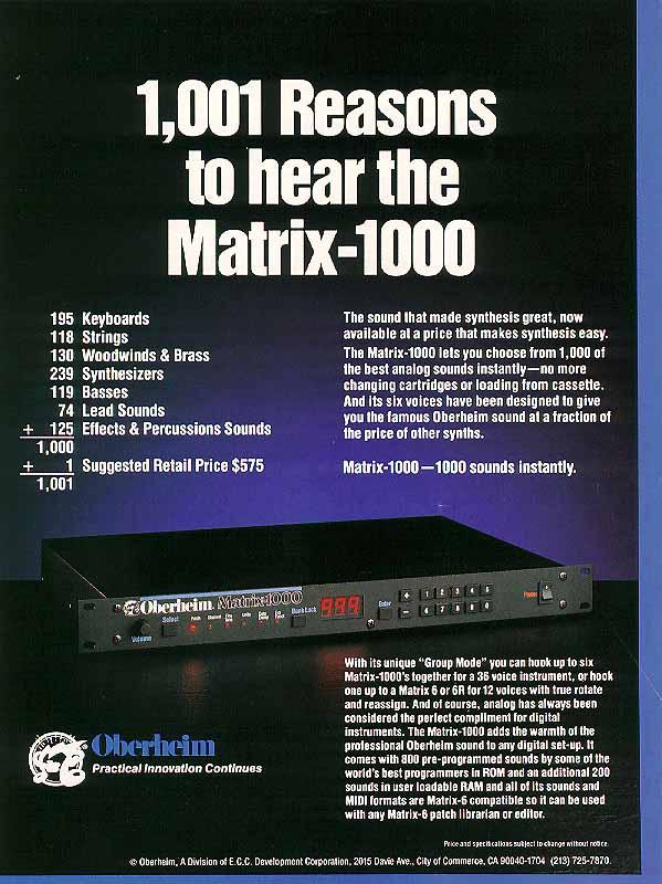 [01] matrix 1000 brochure