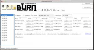BURN editor