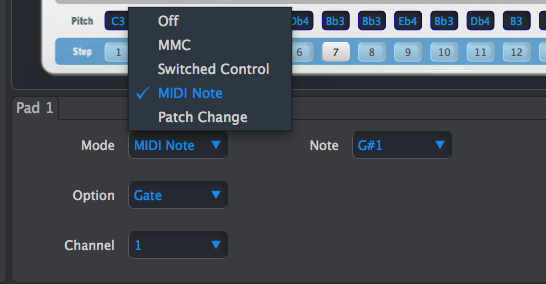 09 BeatStep Pad parameters