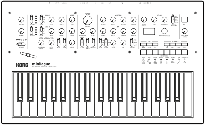 minilogue front draw